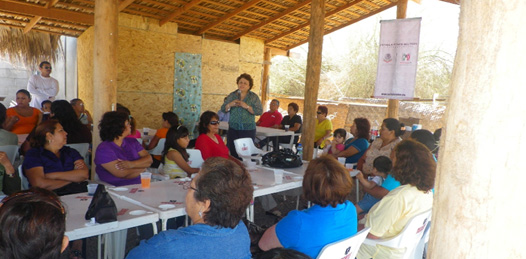 Mujeres loretanas se organizaron en torno a Esthela Ponce, diputada federal del PRI, para manifestarle su apoyo por las actividades que ha realizado en favor de los que menos tienen.