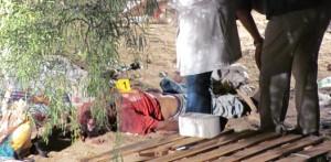 Así fue localizado el cadáver de esta persona que hasta ayer no era identificada por las autoridades.(Víctor Martha).