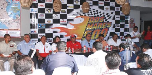 """Organizadores de la """"Dos Mares-500"""" ofrecieron ayer rueda de prensa para informar de los avances que presenta la competencia programada para los primeros días de mayo, en conjunto con el Rally Mexican 1000."""