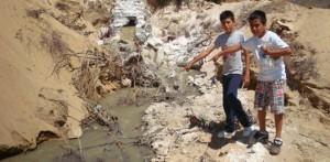Estos los tiraderos que van a la laguna que se encuentra a un costado del arroyo Salto Seco, y de la que gente se queja por la fuerte contaminación en la zona.