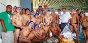 Selección de polo que se alista para su participación en la Olimpiada Nacional.