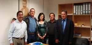 Alberto Téllez y los directivos municipales de la UGOCEM, La Paz y Los Cabos se reunieron con su líder nacional Valentín González, con quien se comprometen a apoyar a los productores sin distinción de colores.