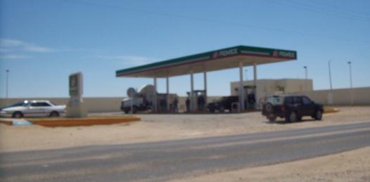 Asaltada recientemente la estacion de gasolina Grupo Alvarez