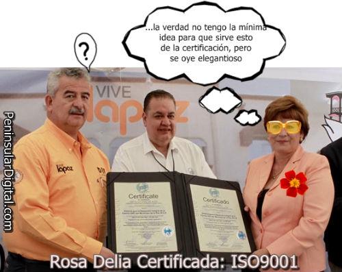 Rosa Delia la alcaldesa certificada