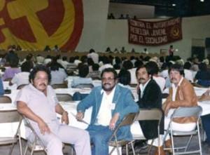 En un Congreso Nacional del PSUM, nos tomamos una foto. Están. Renán, Bobby García, Rubén León e Ismael Morales. Militamos en el verdadero partido de izquierda.
