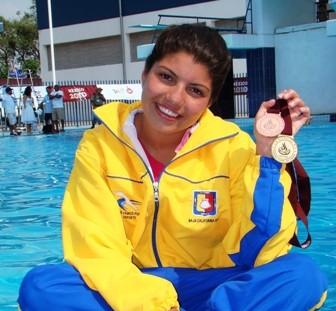La clavadista sudcaliforniana Karla Rivas, junto con Paola Espinosa, figuras de la selección nacional en los próximos Juegos Panamericanos.