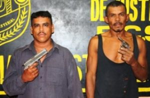 """Elías García Maneche, alias """"El Elías"""", y Juan Milagro Camacho Camargo, alias """"El Milagro""""."""