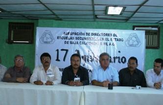 El presidente municipal de Comondú, Dr. Joel Villegas Ibarra, inauguró los trabajos de la XL reunión estatal ordinaria de la agrupación de directores de escuelas secundarias en el estado de Baja California Sur.