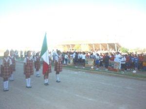 Salvador Robles Villalobos, director de Educación Física encabezó la inauguración de los Juegos Escolares nivel primarias.