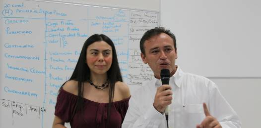 La doctora Verónica Román Quiroz, impartió su cátedra a los 80 alumnos de la Maestría de Derecho Procesal Penal la cual está conformada por personal de la Procuraduría General de Justicia del Estado, Tribunal Superior de Justicia, P.G.R, Seguridad Pública Estatal, Sedena y abogados litigantes.