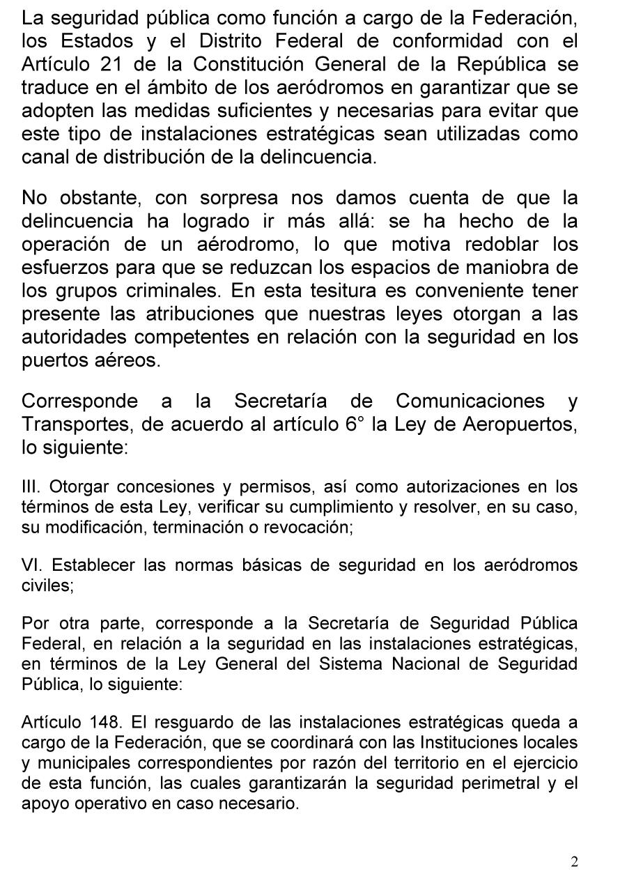 Carta del Senador Luis Coppola (marzo de 2011)