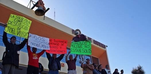 De paro laboral pasarán a la huelga de hambre los Trabajadores del Municipio de Comondú