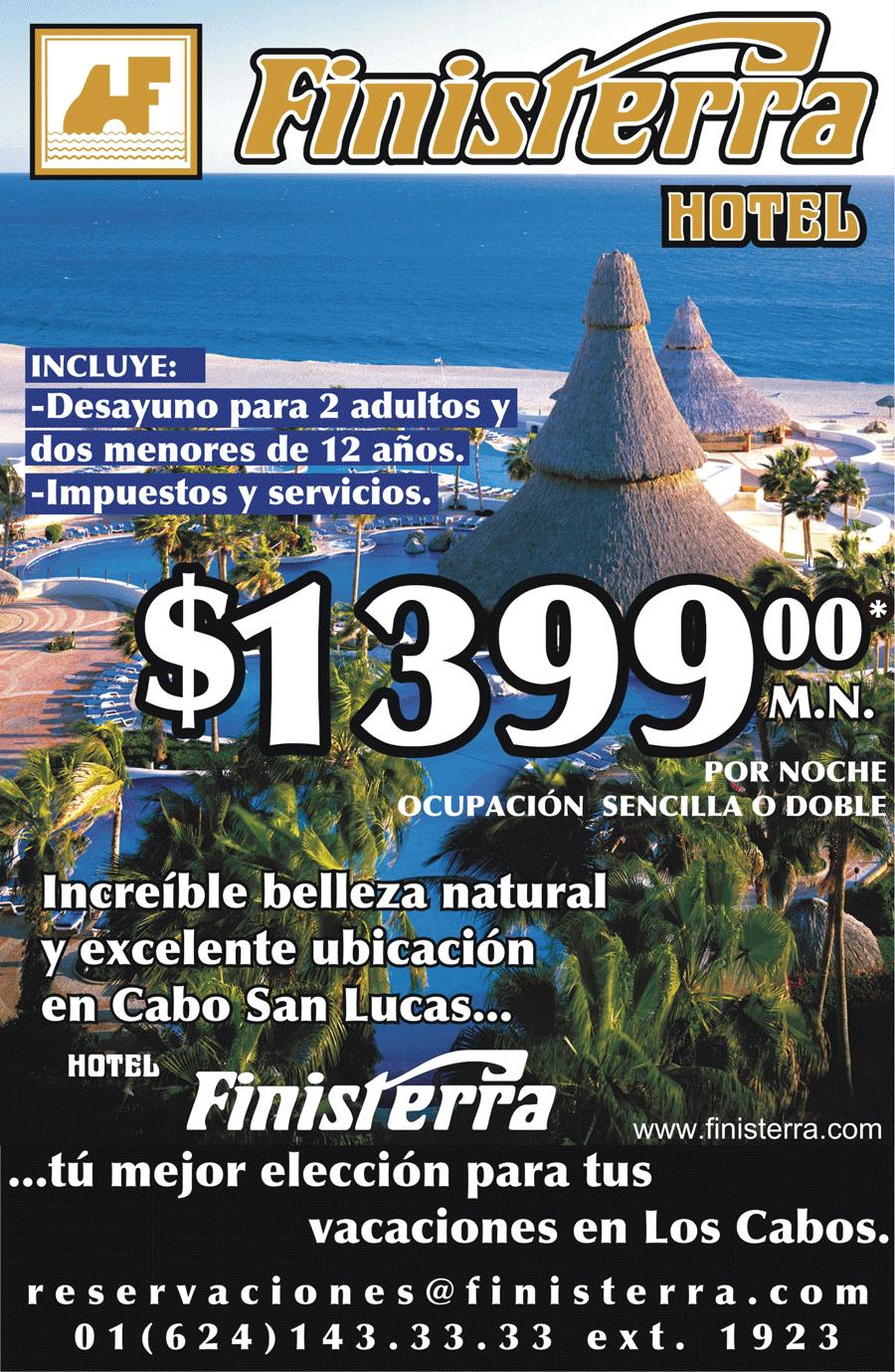 Anuncio publicitario del hotel Finisterra