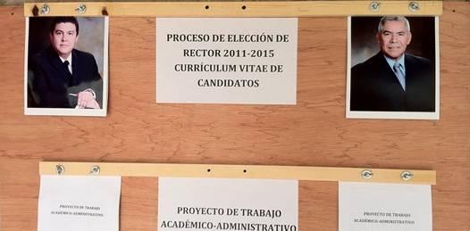 La candidatura de Samuel Flores fue declarada improcedente por el comité de elecciones del Consejo General Universitario toda vez que el ya fue rector en una ocasión informó Alfredo Palacios, Secretario Académico de dicha institución.