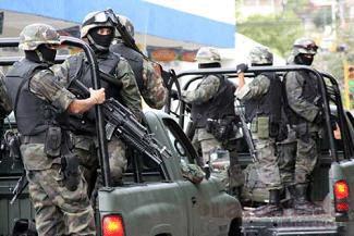 Imagen de convoy militar mexicano