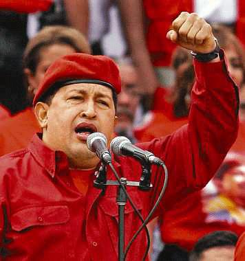 Imagen del Presidente de Venezuela Hugo Chávez