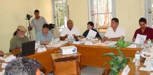 Sesión del cabildo mulegino en la que se presentaron los resultados de la auditoría realizada al ayuntamiento por el despacho Gossler, S. C.