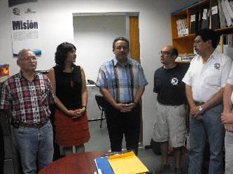 El Dr. Dante Arturo Salgado González, Secretario Académico de la UABCS, dio nombramiento a la Dra. Alba Eritrea Gámez Vázquez como directora de Investigación Interdisciplinaria y Posgrado y al Lic. Luis Chihuahua Luján como jefe del Departamento Editorial, el 29 de julio de 2011.