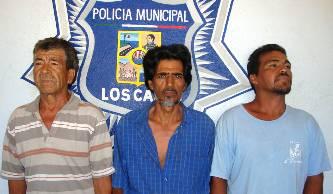 Enrique Moreno Castro, Raúl Enrique Moreno Patrón y Federico Lara Oseguera.