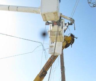 Personal de la Comisión Federal de Electricidad realizaron operativo de corte de diablitos y blindaje del sistema para evitar el robo de luz (Lupita Gómez)