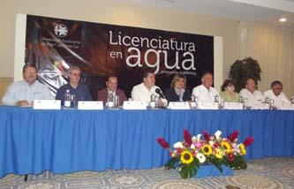 La UABCS y el Congreso del Estado presentaron la propuesta curricular de la Licenciatura en Agua, el pasado 26 de marzo de 2012, en un reconocido salón de la ciudad de La Paz.