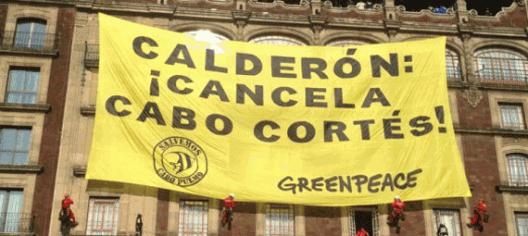 GreenPeace sigue presionando por enterrar al ya moribundo proyecto español Cabo Cortés
