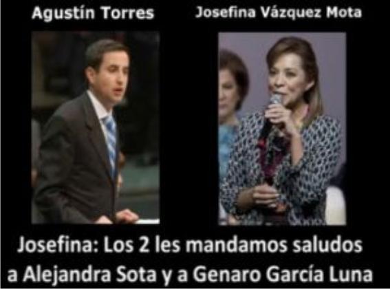 A Josefina también la graban