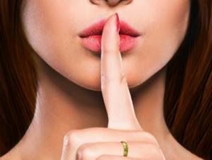 Imagen miniatura de mujer guardando silencio