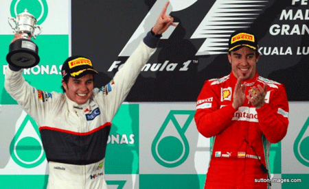 Checo Pérez alcanza el podio en el Gran Premio de Malasia de F1