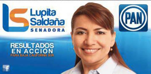 La candidata del Partido Acción Nacional, Guadalupe Saldaña, al Senado de la República, en segunda fórmula, por Baja California Sur, fue revocada de su designación a la candidatura por orden del Tribunal Electoral del Poder Judicial de la Federación.