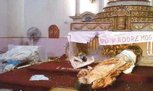 Agreden en Sinaloa símbolos del catolicismo