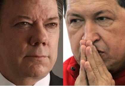 Santos y Chávez suman cooperación militar