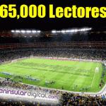 ¡65,000 lectores!