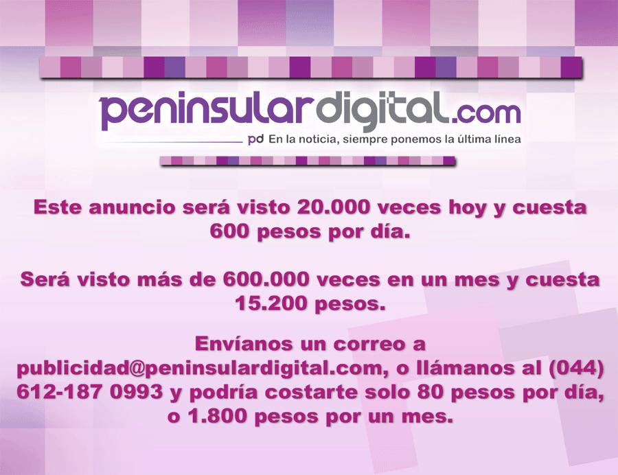 Anúnciate en Peninsular Digital