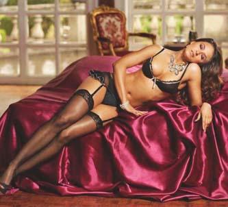 La chihuahuense Georgina Holguín, ex miss México y con trayectoria deportiva, es la portada de agosto de una revista para caballeros.