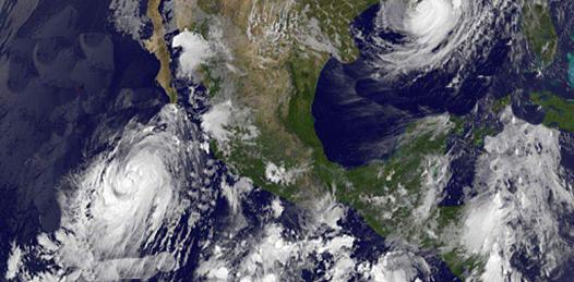 """El pronóstico para las próximas horas es que """"Ileana"""", el noveno ciclón tropical que se forma en la cuenca del Pacífico en 2012, se degrade a tormenta tropical con vientos sostenidos de 100 kilómetros por hora y rachas de hasta 120 kilómetros."""