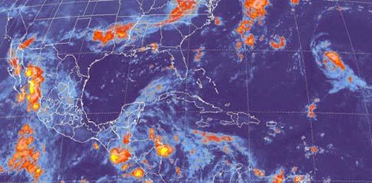 La dependencia precisó que se esperan lluvias moderadas sobre los estados del noroeste del país, mientras que en los estados del norte persistirán las temperaturas por arriba de los 40 grados centígrados.