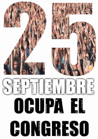 Cartel del movimiento 25S