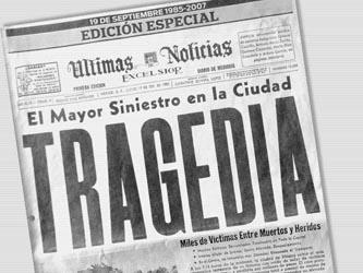 El sismo de aquel jueves 19 de septiembre de 1985, dejó como saldo al menos 10 mil personas muertas y 30 mil edificaciones dañadas.