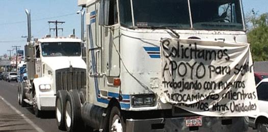 También los transportistas de materiales quieren crédito del gobierno