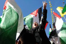 Palestinos marcharon