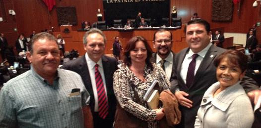 Ricardo Barroso y ganaderos