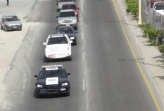Gallo vehicular contra la reforma laboral y educativa