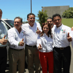 Senadores de la fracción parlamentaria del PRI estuvieron presentes en la ciudad de Tijuana apoyando a los candidatos del Partido Revolucionario Institucional.
