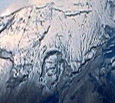 Supuesto rostro de Cristo en el Popo