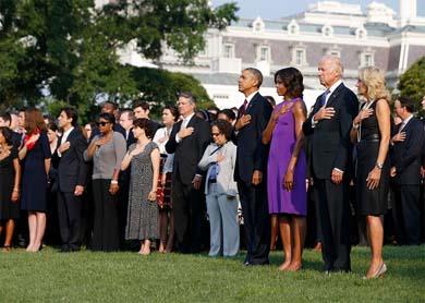 Obama encabeza ceremonia en la Casa Blanca.
