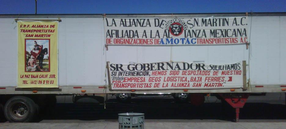 24 días de manifestación, la alianza de transportistas San Martín