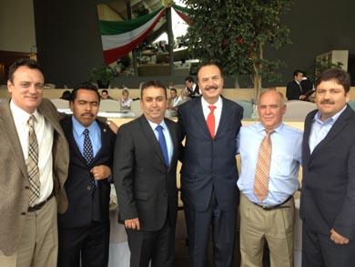 En la gestión ante autoridades del Gobierno Federal, respaldan al alcalde Venustiano Pérez Sánchez, los diputados federales Francisco Pelayo y Alfredo Zamora.
