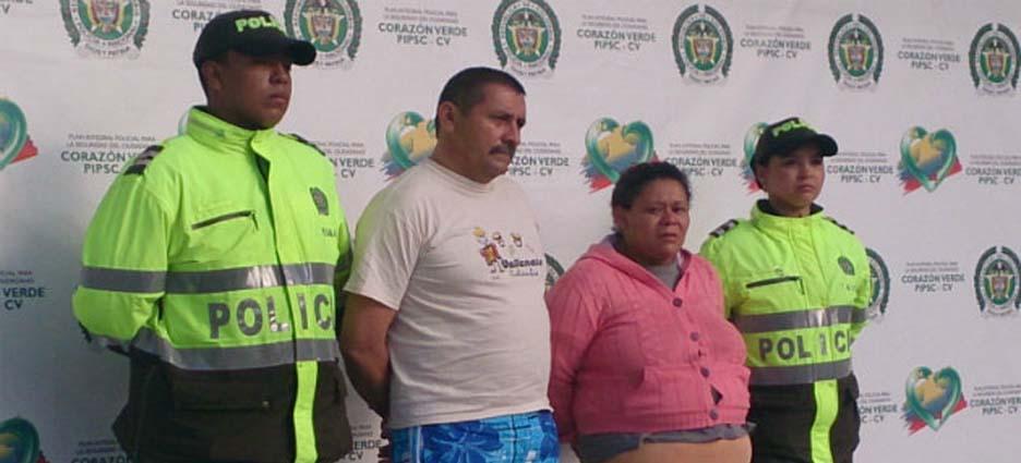 Tito Cornelio Daza y Margarita de Jesús Zapata, arrestados