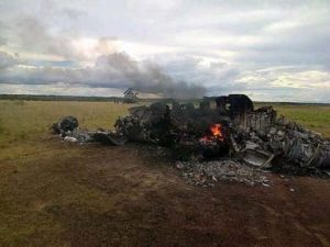 Avion derribado en Venezuela